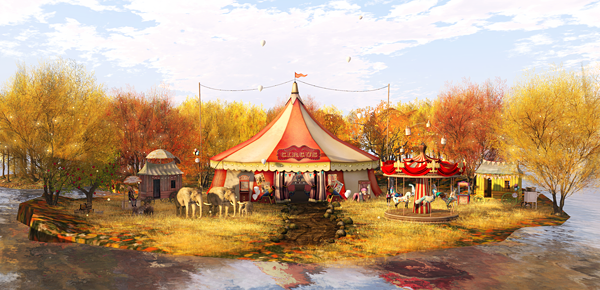 -Tent HIDEKI u2013 Circus Tent (by Hideki Carami) [NEW] @ The Chapter Four -Grass *alirium* ItchyGrass [Gold] (by Alir Flow) -Circus light .*Paper Flowers*. & LOTD #576: Vintage Circus u2013 Carolu0027s Style
